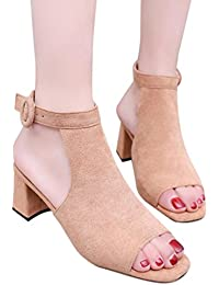 QinMM Sandalias de Vestir de Tacón Alto Verano Para Mujer, Zapatos de Playa Chanclas