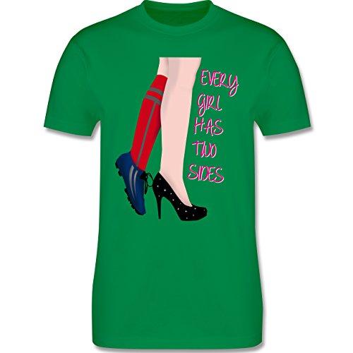 Fußball - Every girl has two sides - Fußball - Herren Premium T-Shirt Grün