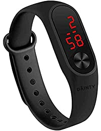 DAINTY Silicone Digital LED Black Dial Bracelet Band Men's and Women's Watch