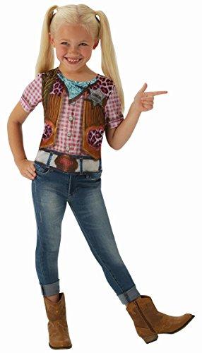 Rubie's Kinder Kostüm Cowgirl Shirt T-Shirt Karneval 3 bis 4 Jahre (Kinder Cowgirl Kostüm)