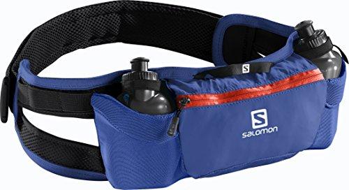 Salomon Cintura da corsa con piccoli flask, Unisex, 2 piccoli flask inclusi (200 ml), ENERGY BELT, Blu, L38254500