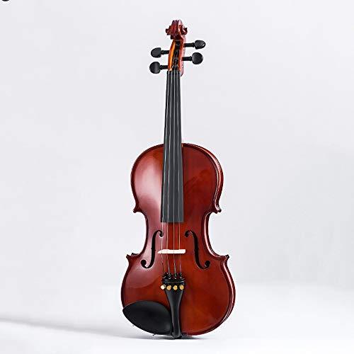 Miiliedy suoni lenitivi naturali freschi fatti a mano in acero violino per adulti principianti violino professionale con violino box arco colofonia corde extra panno per lucidare (dimensione : 3/4)