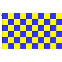 Bandera a cuadros azul y amarillo 90x 60cm–BANDERA a cuadros 60x 90cm–banderas–AZ Flag