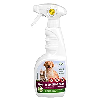 Gardigo - All in One Spray Anti-Puces, Tiques et Poux; Diffuseur Antiparasitaire, Insecticide pour Animaux Domestiques Chat Chien; 500 ml - BIO