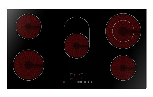 90cm Hob & Downbdraft Pack | Cookology 90cm touch control Ceramic Hob & Downdraft Extractor Fan Pack