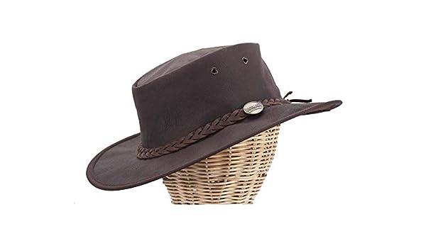1018 Barmah pliable Squashy kangourou chapeau marron craquel/é
