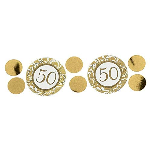 (Arteki Elegant Decorative Confetti 50th Anniversary‑Gold Anniversary Party Decoration Supplies, 1.2 oz. Decorative)