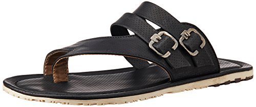 Provogue Men's Black Flip Flops Thong Sandals - 7 UK  available at amazon for Rs.749
