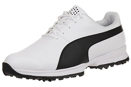 Puma golf grip cleated men golfschuhe golf 188662 01 white, numero di scarpe:eur 42.5