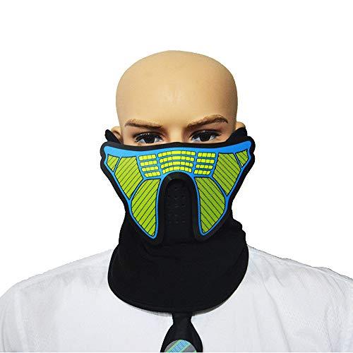 Zhanghaidong LED Kostüm Maske Sound Aktiviert Cosplay Leuchten Party Cyber Rave Maske Für Halloween Club Festivals Geburtstagsfeiern