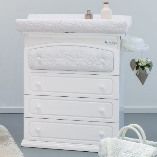 Azzurra Design Wickeltisch mit Badewanne Rinascimento weiß