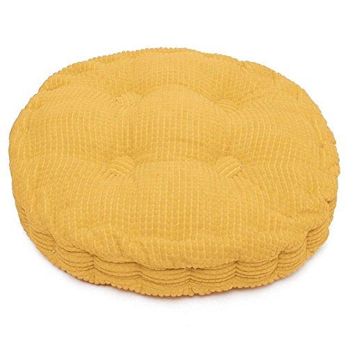 Mais Kissen Corduroy, für Stuhl Home Office Bett Sofa 39,9x 39,9cm Yellow (Round) (Round Kissenbezug)