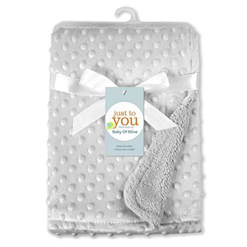 Manta para bebé con diseño de burbujas de doble capa, con textura de lunares, manta para recién nacido gris gris