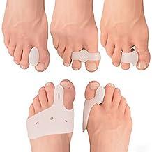 COMPRESSX 10 Piece Set Dedo y Splint Separator Relief Bunions - bunion corrección / separador juanetes / juanete para el dolor de pie, Metatarsus y mucho más!