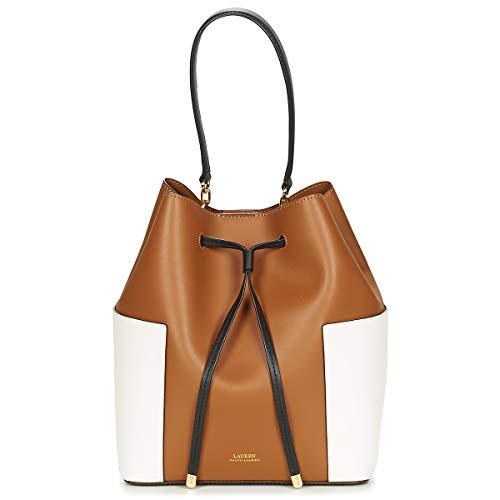 Lauren Ralph Lauren Dryden Debby Handtaschen Damen Cognac/Creme/Schwarz - Einheitsgrösse - Umhängetaschen