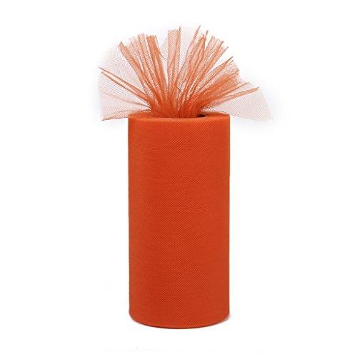 Tulle Rollenspule Tutu Hochzeit Bogen Stoff Veranstaltungs Dekor - Dekor Orangen