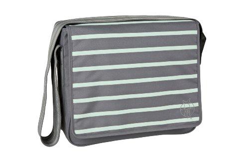 Lässig Casual Messenger Bag Wickeltasche/Babytasche inkl. Wickelzubehör Ash-striped, misty jade (Lassig Messenger Wickeltasche)