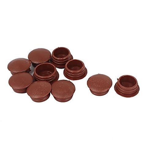 sourcingmap® Plastic Plug Furniture Cap Screw Cover 10pcs Brown for 12mm Dia Hole