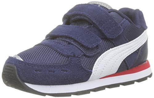 Puma Unisex-Kinder Vista V Inf Sneaker Blau (Peacoat White), 24 EU - Schuhe Jungen Puma