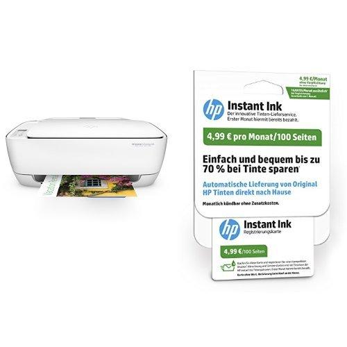 Preisvergleich Produktbild HP Deskjet 3636 Multifunktionsdrucker weiß + HP Instant Ink karte, 100 Seiten pro Monat Tarif