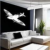 wandaufkleber 3d Wandtattoo Wohnzimmer Spitfire British Fighter Ww2 Flugzeug Flugzeug Flugzeug Aufkleber Spitfire British Fighter Ww2