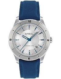 Orologio BREIL uomo B STRONG quadrante argento e cinturino in tessuto blu, movimento SOLO TEMPO - 3H QUARZO