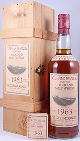 Glenmorangie 1963 23 Years Pure Old Highland Malt Scotch Whisky 43,0% - absolute Rarität und perfektes Exemplar der ersten Jahrgangsabfüllung von Glenmorangie