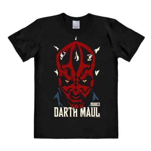 Logoshirt Camiseta Darth Maul - Camiseta La Guerra de las Galaxias - Star Wars - Camiseta con cuello redondo Negro - Diseño original con licencia, talla XS
