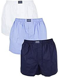 Polo Ralph Lauren Homme 3 Paquet Woven Logo Trunks, Multicolore