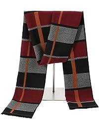 fcd97bde6360 ZHENGYIXIA SCARF Écharpe pour homme Écharpe en laine pour hommes élégante  et réversible Classique Chaude Écharpe