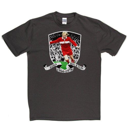 Middlesbrough John Hickton Football Footy Tee T-shirt Grau