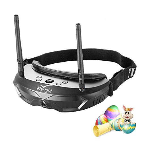 Flysight SPX02 SpeXman Two 5.8Ghz Diversity FPV Goggles 40CH RC Wireless Video Goggles with HDMI In and Pip Function (SMA Ant)