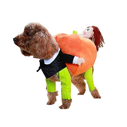 YaptheS Pet-Holding-Kürbis-Kleidung L Hund Katze Jacket Dress Up Hoodies Lustige Kostüm-Haustier-Kürbis Outfit