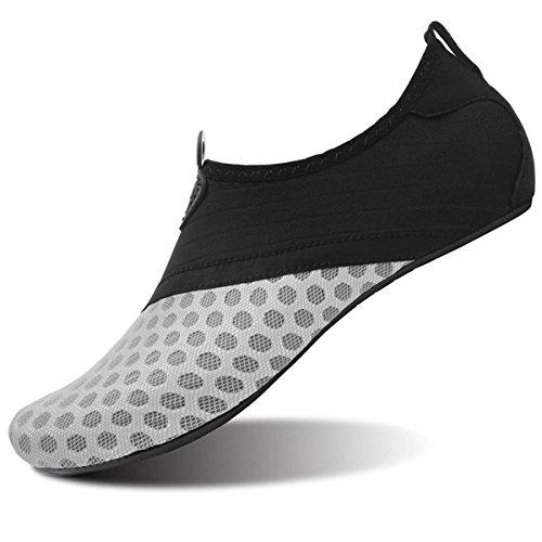 JOINFREE Frauen Durable Sohle Barfuß Wasser Haut Schuhe Aqua Socken Für Schwimmen Surf Yoga Wassergymnastik Grau EU 37-38
