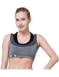 ayushicreationa Women's Cotton Sports Padded Bra (Grey, Free Size)