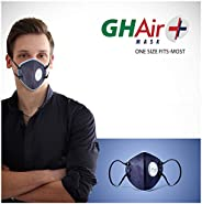 Grin Health N99 Anti Pollution Mask with Air Valve, Activated Carbon, SaftyHEPA, Reusable Washable, Durable (B