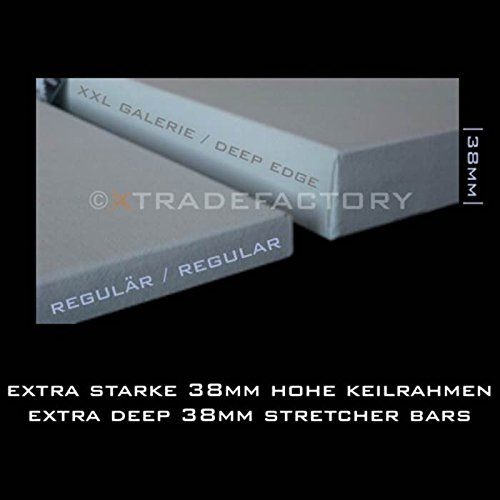 4 PREMIUM DEEP EDGE STRETCHED BLANK CANVASES 90 x 90 cm ~35x35
