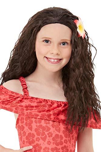 Smiffys 52030 - Peluca de princesa hawaiana, color marrón