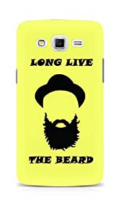 Amez designer printed 3d premium high quality back case cover for Samsung Galaxy Grand 3 (Long Live the Beard)