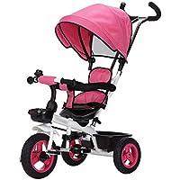 Qi Tai- Carrito de bebé Bicicleta de Triciclo para niños 1-3 años Cochecito