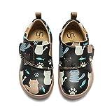 UIN Baby Little Kid Schuhe Schöne Katze Gemalt Mikrofaser Leder Kleinkind Mädchen Jungen Casual Fashional Sneaker 29