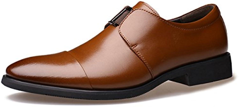LEDLFIE Zapatos Para Hombres Negocios Ropa Formal Zapatos Para Hombres Tips Feet Low Shoes Single Shoes -