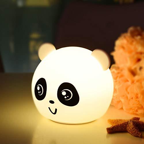 Ss luce di notte in silicone morbido carino panda lampada da comodino camera da letto bambino alimentazione primer induzione decompressione con luce,1