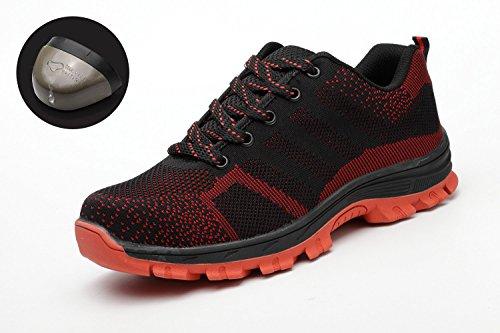Y Mujer De Protección Acero De Negro Suela Hombre Zapato Puntera Laboral Roja Zapatos Con Seguridad Tqgold 75wTUq5