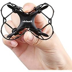 Virhuck GB202 Mini RC Drone, 2,4 GHz, 6 assi giroscopico, Modalità 3 Velocità, Rotazione 3D, 360-gradi Eversion Quad Drone Mini Quodcopter Helicopter Drone per Bambini e Principianti - Nero