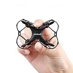 Idea Regalo - Virhuck GB202 Mini RC Drone, 2,4 GHz, 6 Assi giroscopico, modalità 3 velocità, Rotazione 3D, 360-gradi Eversion Quad Drone Mini Quodcopter Helicopter Drone per Bambini e Principianti - Nero