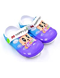 Fly Clog Slipper for Children Boys and Girls 2 to 5.5 Years Purple & Sky Blue