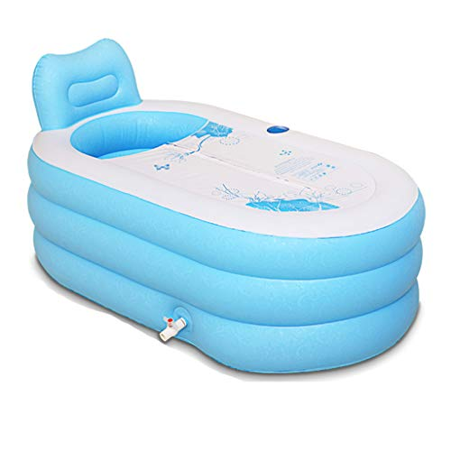 Badewannen Badefass Erwachsene Fass PVC Elektrische Pumpe (Color : Blue, Size : 130 * 82 * 73cm)