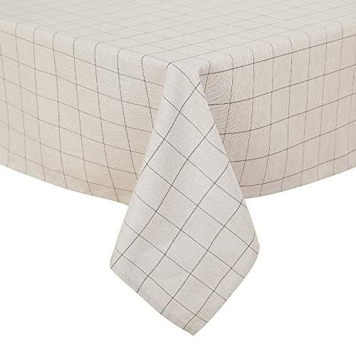 Deconovo tovaglia da tavola in tessuto resistente alle rughe tovaglia antimacchia protegge il tavolo dal calore per ristorante 140x240cm cachi
