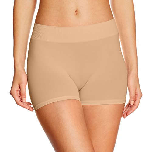 Beige Kleid Hose (PIECES Damen PCLONDON Mini Shorts NOOS Panties, Beige (Nature), 38 (Herstellergröße:M/L))